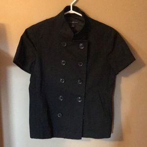Gap short sleeved lined button up jacket